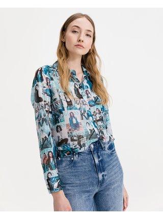 Košele pre ženy Guess - modrá