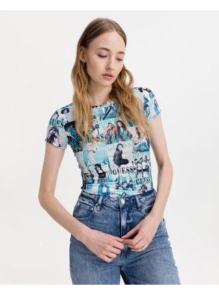 Tričká s krátkym rukávom pre ženy Guess - modrá