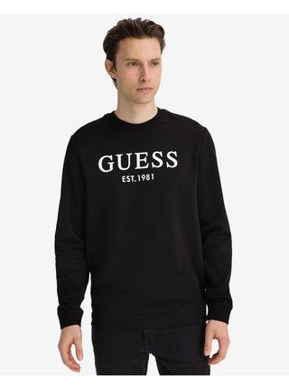 Mikiny bez kapuce pre mužov Guess - čierna