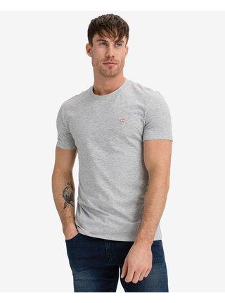 Tričká s krátkym rukávom pre mužov Guess - sivá