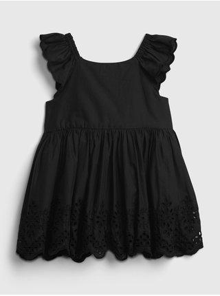 Černé holčičí baby šaty eyelet dress GAP