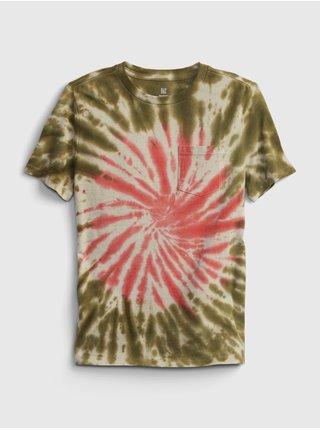Barevné klučičí dětské tričko pocket wash effect t-shirt GAP