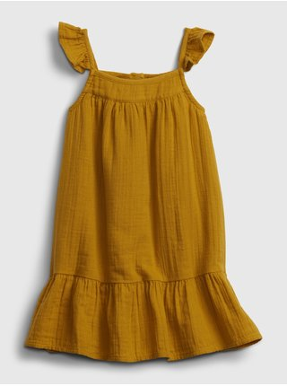 Žluté holčičí dětské šaty tier dress GAP