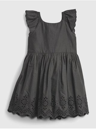 Černé holčičí dětské šaty empire eyelet dress GAP