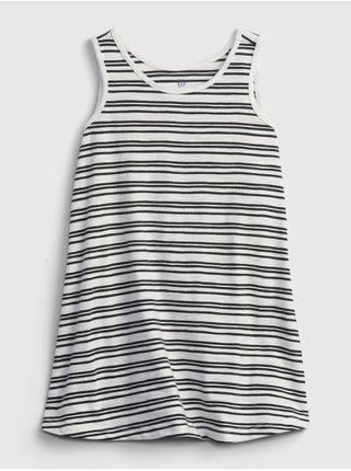 Černé holčičí dětské šaty tank dress GAP
