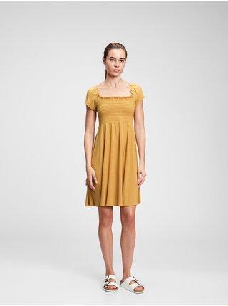 Žluté dámské šaty mini dress GAP