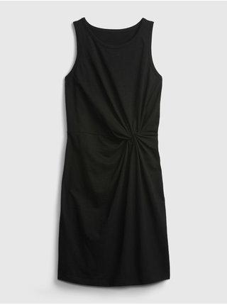Černé dámské šaty knot waist dress GAP