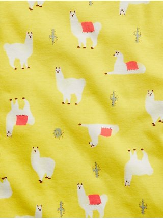 Žluté klučičí dětské pyžamo llama graphic GAP