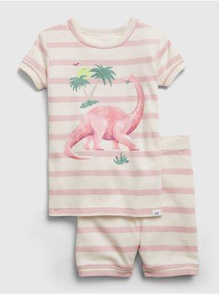 Smetanové klučičí dětské pyžamo dinosaur graphic GAP