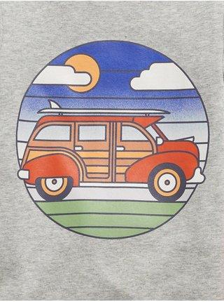 Šedé klučičí dětské pyžamo transport graphic GAP