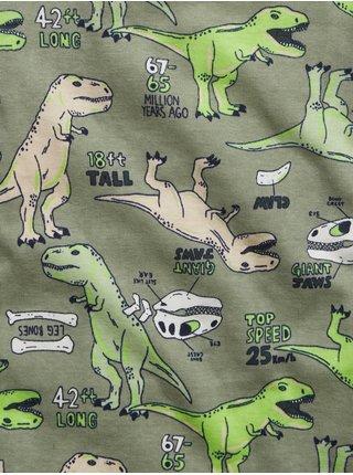 Zelené klučičí dětské pyžamo dinosaur graphic GAP