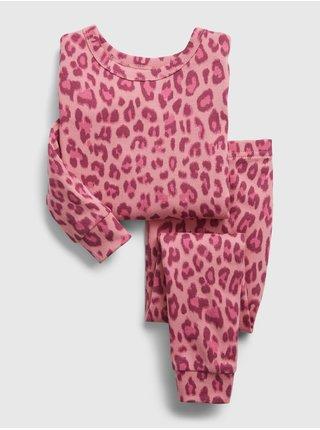 Červené klučičí dětské pyžamo organic cotton GAP