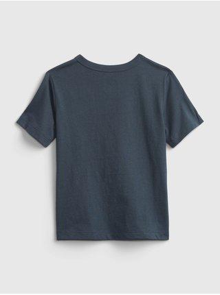 Modré klučičí dětské tričko solar system graphic t-shirt GAP
