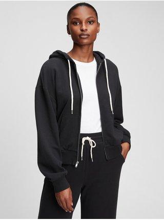 Černá dámská mikina abbreviated hoodie GAP