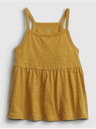 Žlutý holčičí dětský top strappy tank GAP