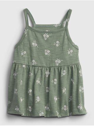 Zelený holčičí dětský top strappy tank GAP