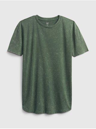 Zelené klučičí dětské tričko teen curved hem t-shirt GAP