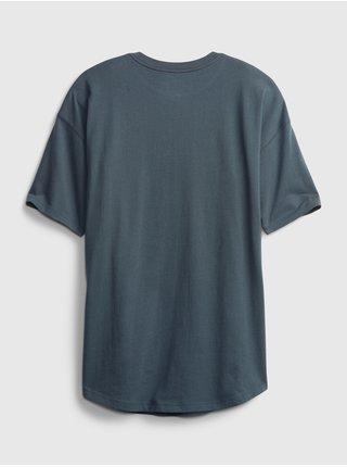 Modré klučičí dětské tričko henley GAP