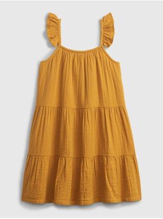 Žluté holčičí dětské šaty sleeveless tier dress GAP