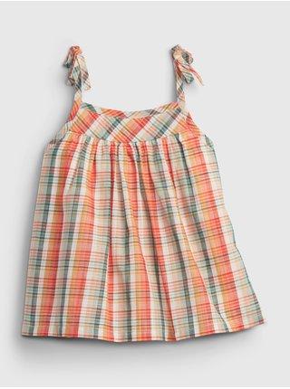 Barevný holčičí dětský top sleeveless ruffle woven GAP