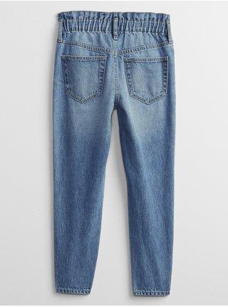 Modré holčičí dětské džíny high-rise mom GAP
