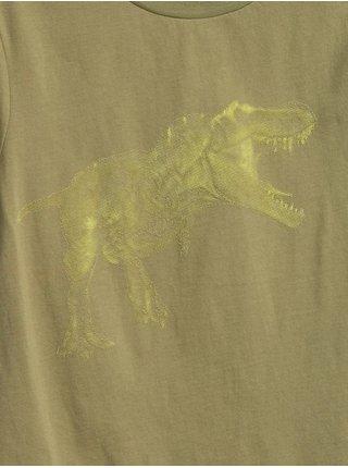 Zelené klučičí dětské tričko interact graphic t-shirt GAP