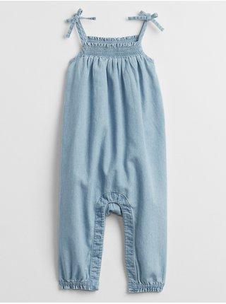 Modrý holčičí baby overal denim jumpsuit GAP