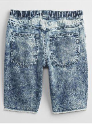 Modré klučičí dětské kraťasy slim pull-on denim shorts GAP