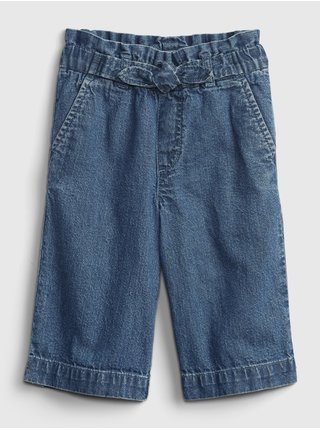 Modré holčičí dětské džíny crop-paper Washwell GAP