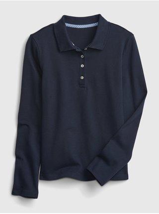 Modré holčičí dětské polo tričko update GAP