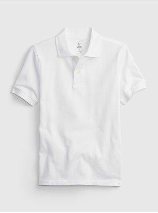 Bílé klučičí dětské polo tričko organic catton GAP