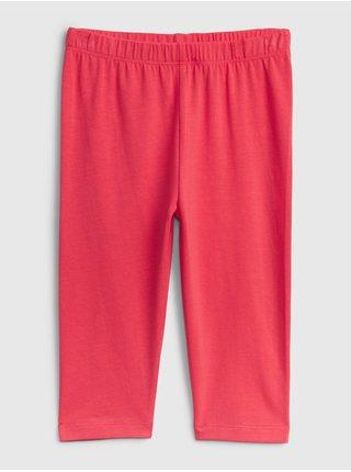 Růžové holčičí dětské legíny organic cotton crop leggings GAP