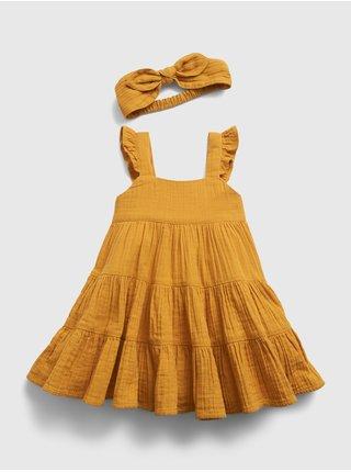 Žluté holčičí baby šaty july dress GAP