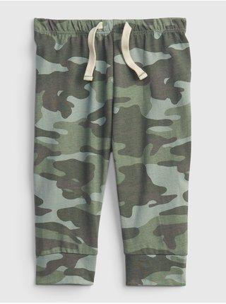 Zelené klučičí baby tepláky organic catton mix and match pants GAP