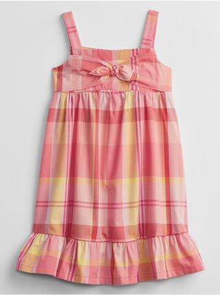 Oranžové holčičí dětské šaty print dress GAP