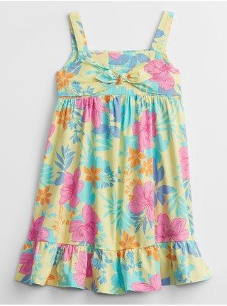 Barevné holčičí dětské šaty print dress GAP