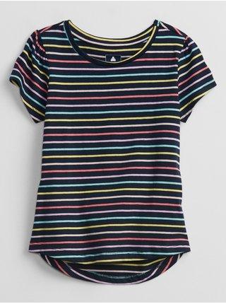 Modré holčičí dětské tričko mix and swing t-shirt GAP