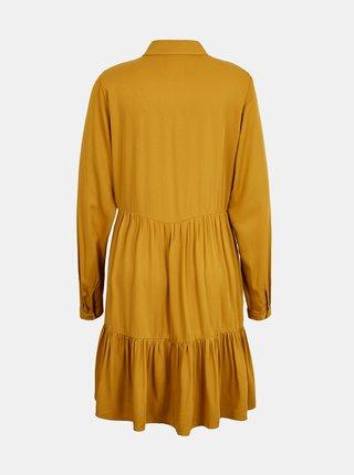 Žlté košeľové šaty s volánmi VILA Rose