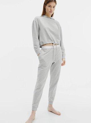 Šedé dámské tepláky Calvin Klein Jogger