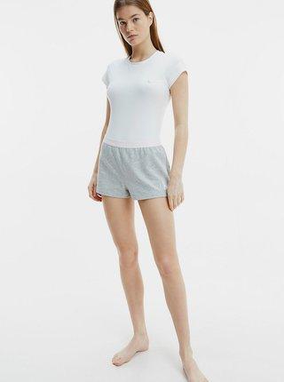Šedé dámské domácí kraťasy Calvin Klein Short