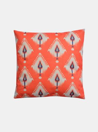 Oranžový vzorovaný polštář Clayre & Eef 43 x 43 cm