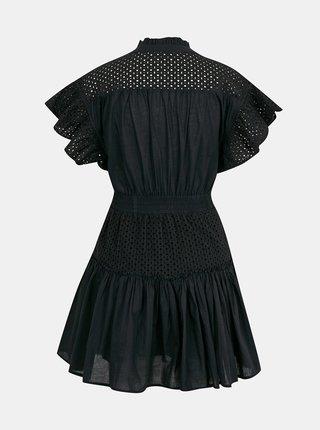 Černé šaty s volány a madeirou TALLY WEiJL