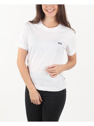 Tričká s krátkym rukávom pre ženy VANS - biela