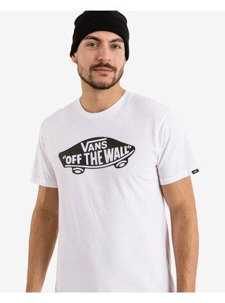 Tričká s krátkym rukávom pre mužov VANS - biela