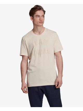 Tričká s krátkym rukávom pre mužov adidas Performance - béžová