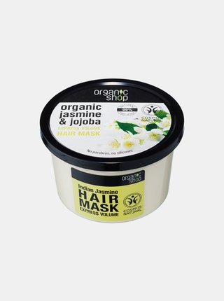 Organic Shop Expres maska na objem vlasů Indický jasmín 250 ml