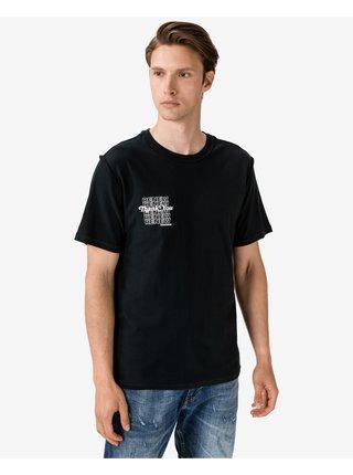 Tričká s krátkym rukávom pre mužov Converse - čierna