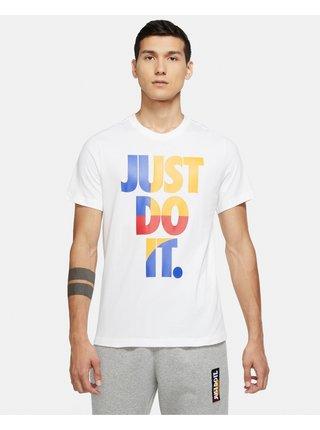 Tričká s krátkym rukávom pre mužov Nike - biela