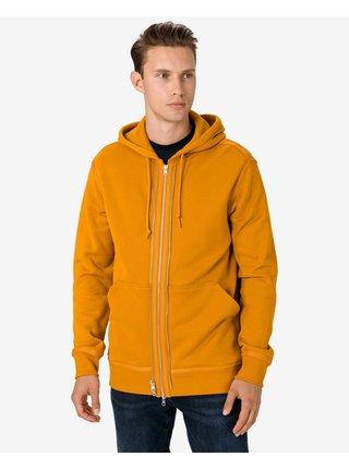Mikiny s kapucou pre mužov Converse - žltá, oranžová