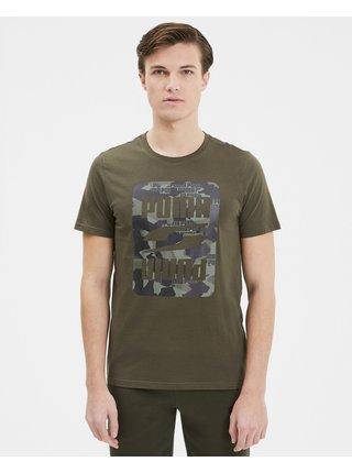 Tričká s krátkym rukávom pre mužov Puma - zelená